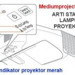 lampu indikator proyektor merah